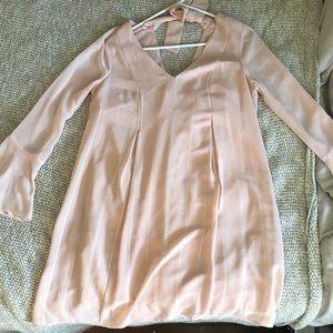 BCBG light pink bell sleeve dress